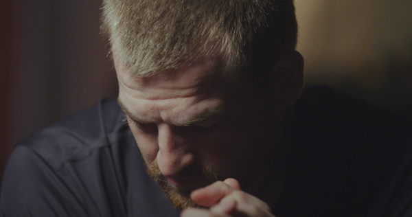 Dr. Kent Brantly interviews with Arthur Rasco. From Samaritan's Purse, FACING DARKNESS releases March 30, 2017. (Photo credit: Samaritan's Purse)