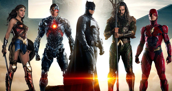 Justice League, featuring DC Comics superheroes Batman, Superman, Wonder Woman, Aquaman, The Flash and Cyborg, will release in November 2017. Movie poster courtesy of Warner Brothers pictures.