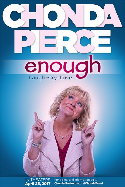 Comedian Chonda Pierce releases new documentary ENOUGH on April 25 through Fathom Events. Image courtesy of Turning Point Public Relations.