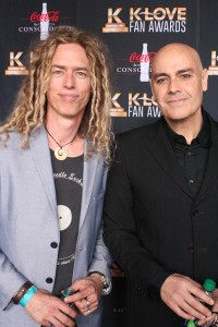 Phil Joel and Peter Furler on the K-Love Fan Awards red carpet. The former Newsboys duo performed together during the weekend. Joel continues to stay busy with his group Zealand Worship and Furler continues a solo career while recently contributing to a new Newsboys song.