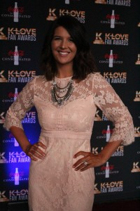 Mallary Hope on the K-Love Fan Awards red carpet. Image by LeAnn Hamby