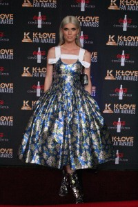 Singer Julianna Zobrist presented the Female Vocalist of the Year award during the K-Love Fan Awards.