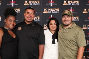 This year, the K-Love Fan Awards weekend benefitted the Military Warriors Support Foundation. Two families of wounded military heroes were given houses and walked the red carpet during the awards night.