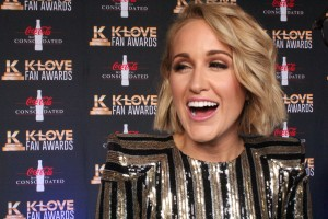 Britt Nicole on theK-Love Fan Awards red carpet. She performed during the show.