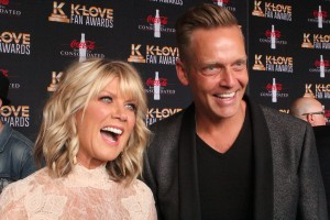 Natalie Grant and Bernie Herms on the K-Love Fan Awards red carpet. Image by LeAnn Hamby.