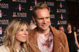 Chris Rademaker and Jodi King of Love & The Outcome on the K-Love Fan Awards red carpet. Image by LeAnn Hamby.