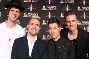 Hawk Nelson on the K-Love Fan Awards red carpet. Image by LeAnn Hamby