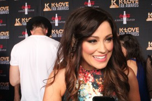 On the red carpet, Kari Jobe spoke about the blessing of making music with her husband, Cody Carnes, and the couple's newest addition, Canyon Morrison.