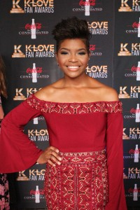 Jasmine Murray on the K-Love Fan Awards red carpet. Image by LeAnn Hamby