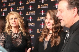 Linda Davis, Rylie Scott and Lang Scott of the Scott Family.