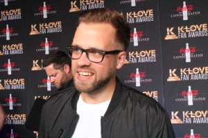Josh Wilson walks the red carpet at the K-Love Fan Awards.