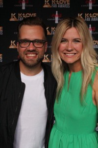 Josh Wilson and his wife, Beth walked the red carpet at the K-Love Fan Awards.