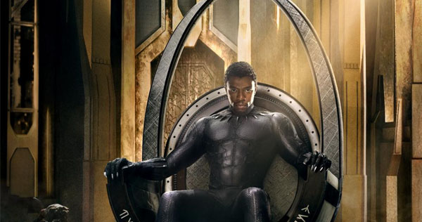 Chadwick Boseman stars in Marvel's Black Panther, releasing Feb. 16. Image courtesy of Disney/Marvel Studios.