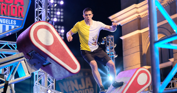ean Bryan, the 'Papal Ninja,' competes on NBC/Universal's 'American Ninja Warrior.' Photo by Tyler Golden/NBC