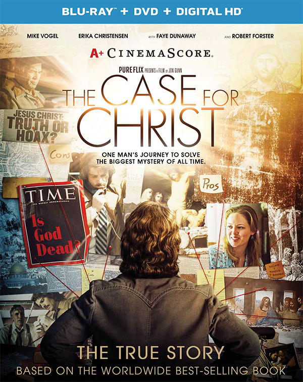 The Case for Christ released to Blu-Ray and DVD this week. It stars Mike Vogel, Erika Christensen, L. Scott Caldwell, and more. Image courtesy of Pure Flix Entertainment.