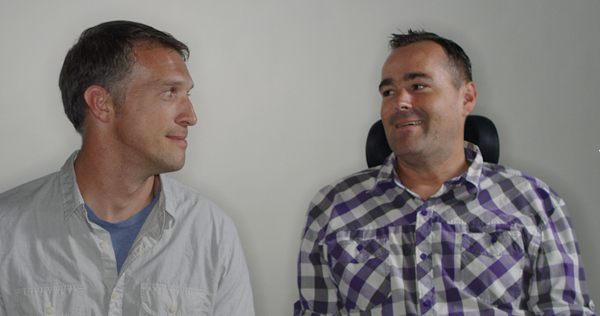 "Justin Skeesuck and Patrick Gray tell the story of their Camino de Santiago journey in the documentary 'I""ll Push You.' Film image courtesy of WIT PR."