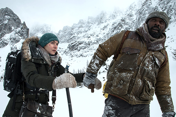 Two strangers. One incredible journey. Idris Elba and Kate Winslet star in The Mountain Between Us, in theaters October 6. Image courtesy of 20th Century Fox
