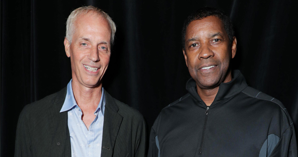 Dan Gilroy, director, and Denzel Washington, star, of 'Roman J. Israel, Esq.' releasing Nov. 22 through Sony Pictures. Image by Eric Charbonneau courtesy of Sony Pictures.