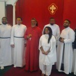 Anitha along with the bishop and clergy
