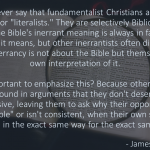 "Fundamentalists aren't ""Biblical"""