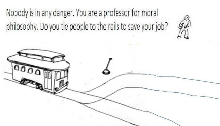 Philosopher's job trolley problem