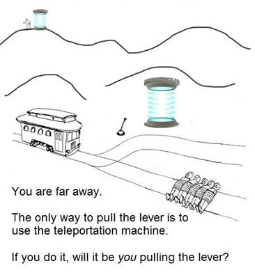 Teleportation trolley problem