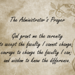The University Administrator's Prayer
