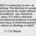 C. F. D. Moule on History and Christian Faith