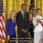 Elaine Pagels Honored by President Barack Obama