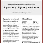 #CFP Undergraduate Religious Studies Symposium at Indiana University Bloomington