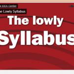 The Lowly Syllabus