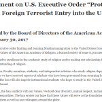 AAR and IQSA Statements about Executive Order
