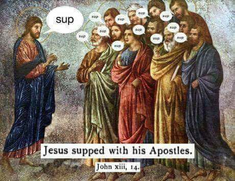 Jesus supped with his apostles