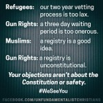 Guns vs. Refugees: Hypocrisy Illustrated