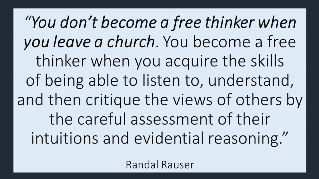Rauser freethinker quote