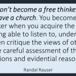 Freethinking isn't achieved by Leaving Religion