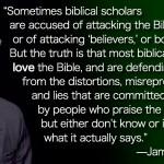 Scholars Love The Bible