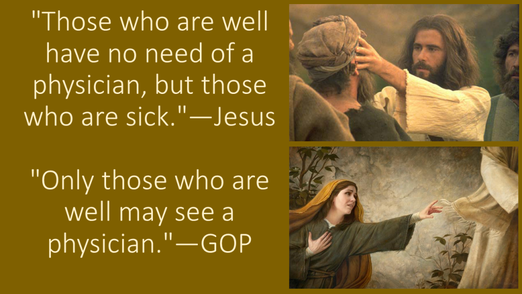 Jesus vs GOP