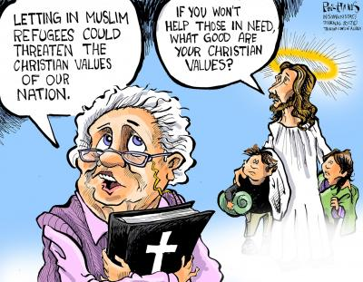 Muslim refugees and Christian values