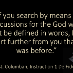 The God Who Cannot Be Defined In Words