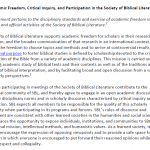 SBL Statement on Academic Freedom