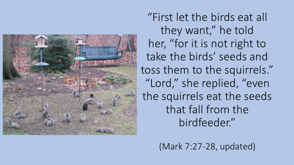 First let the birds eat Mark updated