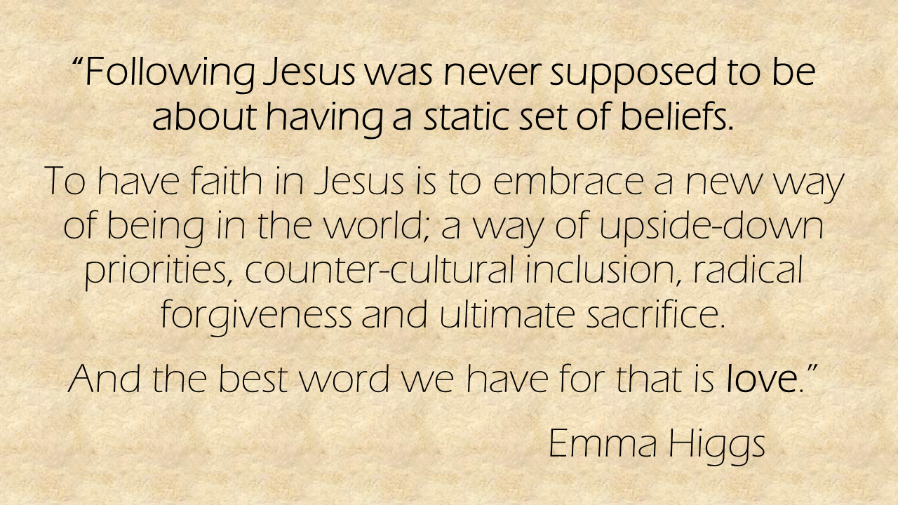 Following Jesus was never supposed to be Emma Higgs quote