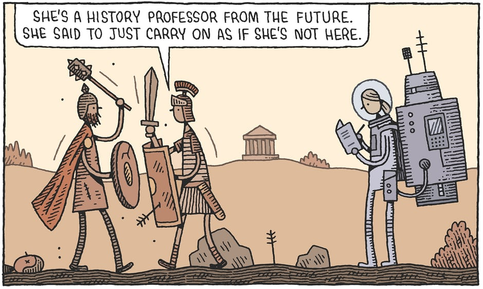 Tom Gauld History Professor from the Future