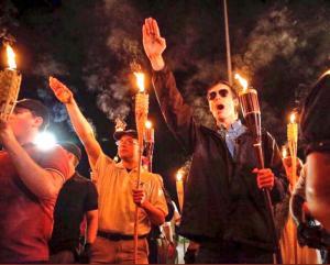 Nazi salutes Charlottesville