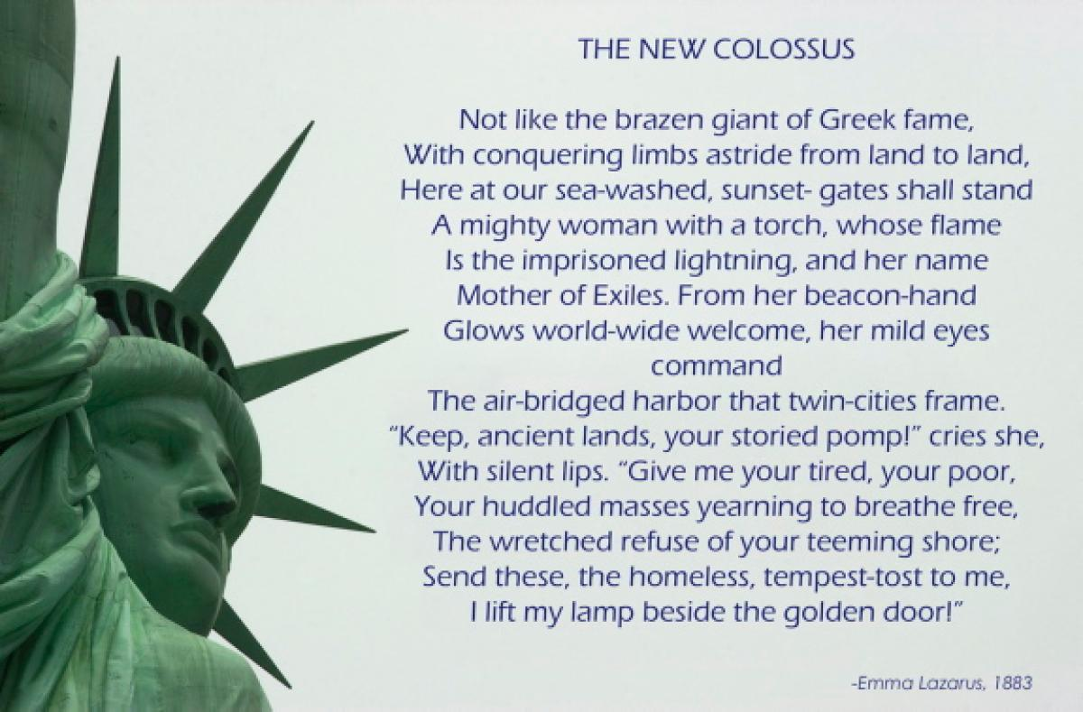 the new colossus poem analysis essay