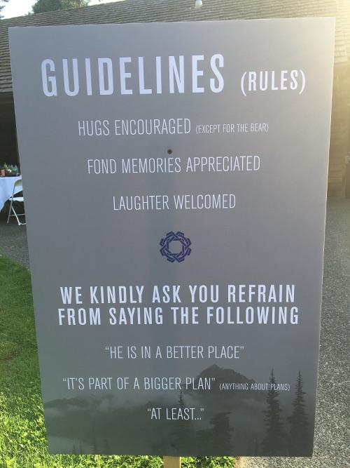 memorial service guidelines