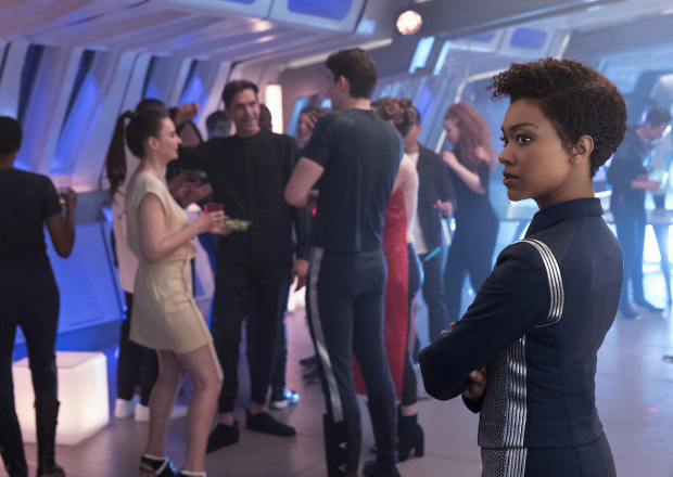 """Magic to Make the Sanest Man Go Mad"" -- Episode 107 -- Pictured: Sonequa Martin-Green as First Officer Michael Burnham of the CBS All Access series STAR TREK: DISCOVERY. Photo Cr: Michael Gibson/CBS © 2017 CBS Interactive. All Rights Reserved."