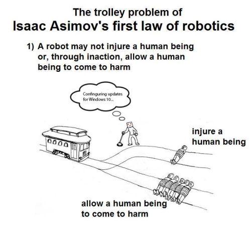 asimov trolley problem