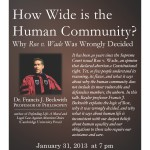 How Wide is the Human Community?: Why Roe v. Wade Was Wrongly Decided